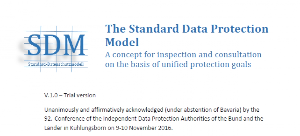 DOWNLOAD: The Standard Data Protection Model
