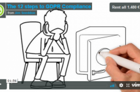 In Video: The 12 steps to GDPR Compliance