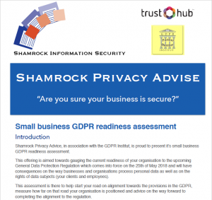 Shamrock Privacy Advice (™ of Shamrock Information Security)