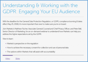 Understanding & Working with the GDPR: Engaging Your EU Audience